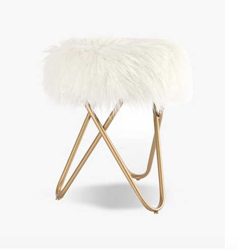birthday wishlist faux fur stool