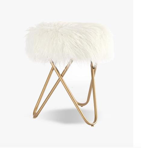 birthday wishlist faux fur stool