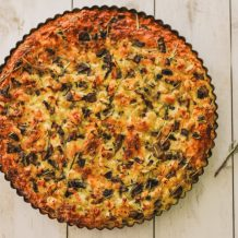 chicken and mushroom quiche